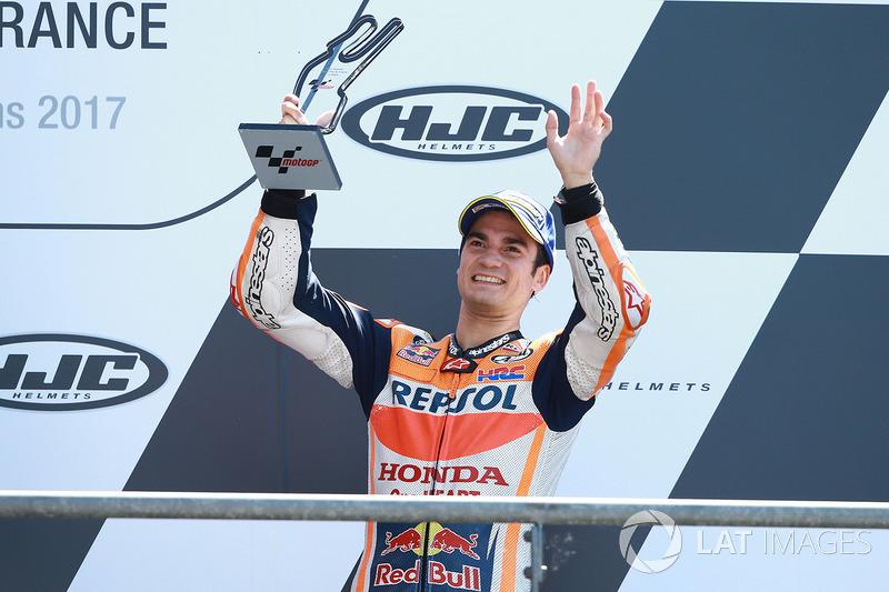 O terceiro lugar sobrou para o vencedor do GP da Espanha, Dani Pedrosa. O piloto subiu para a vice-liderança do mundial após se recuperar do 13º lugar no grid.