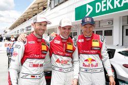 Первая тройка после квалификации: Рене Раст, Audi Sport Team Rosberg, Джейми Грин, Audi Sport Team R
