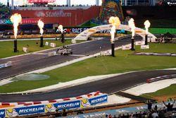 Felipe Massa, beats Juan Pablo Montoya, driving the Ariel Atom Cup