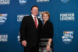 NASCAR Hall of Fame inductee Richard Childress with his wife Judy