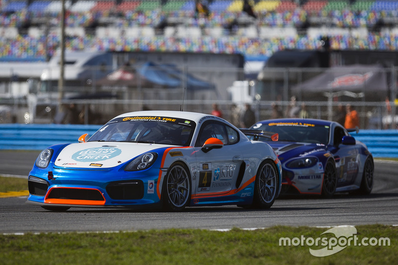 #4 Team TGM, Porsche Cayman GT4 MR: Ted Giovanis, Guy Cosmo, Hugh Plumb