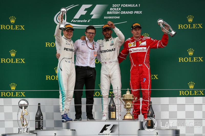 Britanya GP - Kazanan Lewis Hamilton, 2. Valtteri Bottas, 3. Kimi Raikkonen