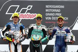 Podium: second place Philipp Ottl, Schedl GP Racing, Race winner Joan Mir, Leopard Racing, third pla