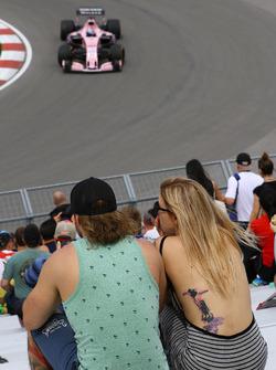 Fans y Sergio Pérez, Sahara Force India VJM10