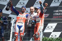 Podium: Danilo Petrucci, Pramac Racing, Claudio Domenicali, Ducati CEO, Andrea Dovizioso, Ducati Tea