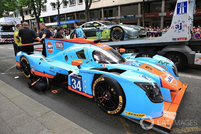 #34 Tockwith Motorsports Ligier JS P217 Gibson: Nigel Moore, Philip Hanson, Karun Chandhok, #95 Aston Martin Racing Aston Martin Vantage: Nicki Thiim, Marco Sorensen, Richie Stanaway