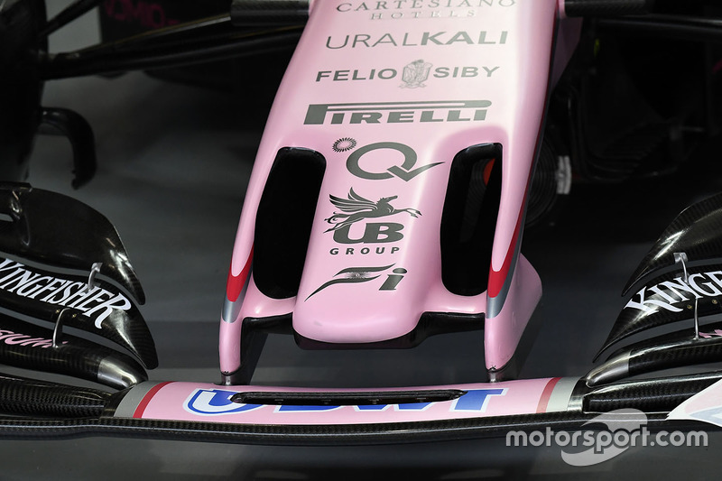 Force India VJM10 nose detail