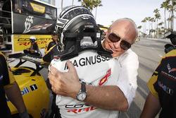 Jan Magnussen, Corvette Racing celebrates his pole