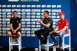 Jérôme d'Ambrosio, Dragon Racing; Adam Carroll, Jaguar Racing; Felix Rosenqvist, Mahindra Racing