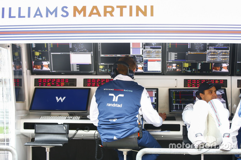 Felipe Massa, Williams, am Kommandostand