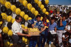 Riccardo Patrese, Williams celebrates his 200th Grand Prix start