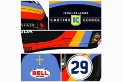 Helmdesign für Fernando Alonso beim Indy 500