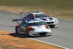 #54 CORE autosport Porsche 911 GT3R: Jon Bennett, Colin Braun, Nic Jönsson, #25 BMW Team RLL BMW M6