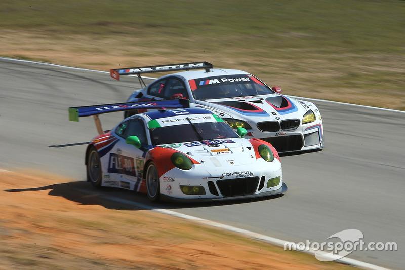 #54 CORE autosport Porsche 911 GT3R: Jon Bennett, Colin Braun, Nic Jönsson, #25 BMW Team RLL BMW M6 GTLM: Bill Auberlen, Alexander Sims, Kuno Wittmer