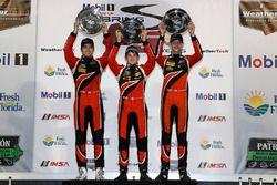 Podium PC : winners James French, Kyle Mason, Patricio O'Ward, Performance Tech Motorsports