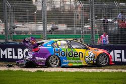 Das Auto von Nick Percat, Brad Jones Racing, Holden nach dem Crash