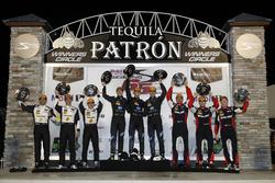 Podium: #5 Action Express Racing Cadillac DPi: Joao Barbosa, Christian Fittipaldi, Filipe Albuquerqu