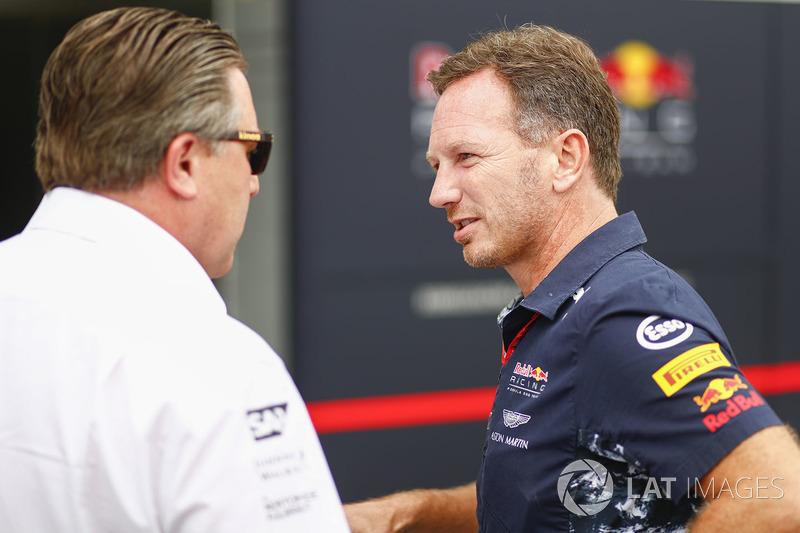 Zak Brown, Executive Director, McLaren Technology Group, Christian Horner, Team Principal, Red Bull