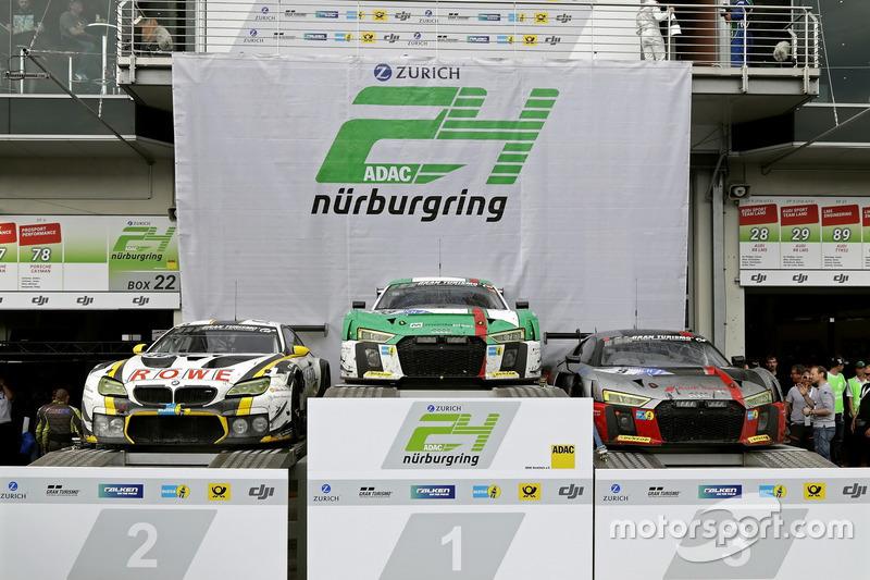 Podyum: 1. 29 Audi Sport Team Land-Motorsport, Audi R8 LMS: Christopher Mies, Connor De Phillippi, M