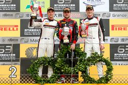 Podium: Race winner Laurens Vanthoor, Audi Sport Team WRT Audi R8 LMS; second place Earl Bamber, Manthey Racing Porsche 911 GT3-R; third place Kévin Estre, Manthey Racing Porsche 911 GT3-R