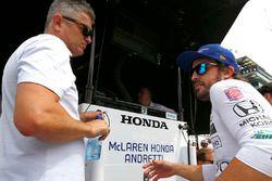 Fernando Alonso, Andretti Autosport, Honda, mit Gil de Ferran