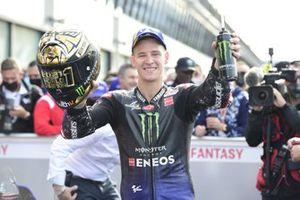El Campeón del Mundo Fabio Quartararo, Yamaha Factory Racing celebra