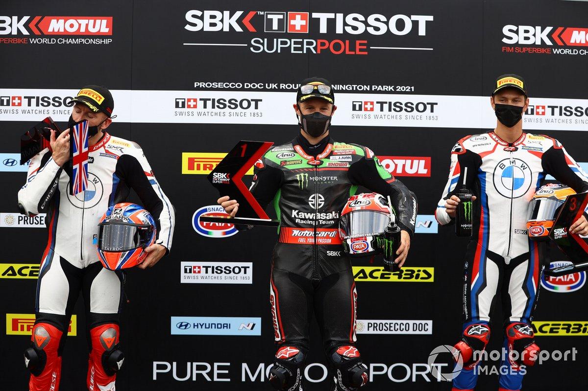 Tom Sykes, BMW Motorrad WorldSBK Team, Jonathan Rea, Kawasaki Racing Team WorldSBK, Michael van der Mark, BMW Motorrad WorldSBK Team