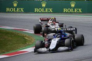 George Russell, Williams FW43B,Antonio Giovinazzi, Alfa Romeo Racing C41