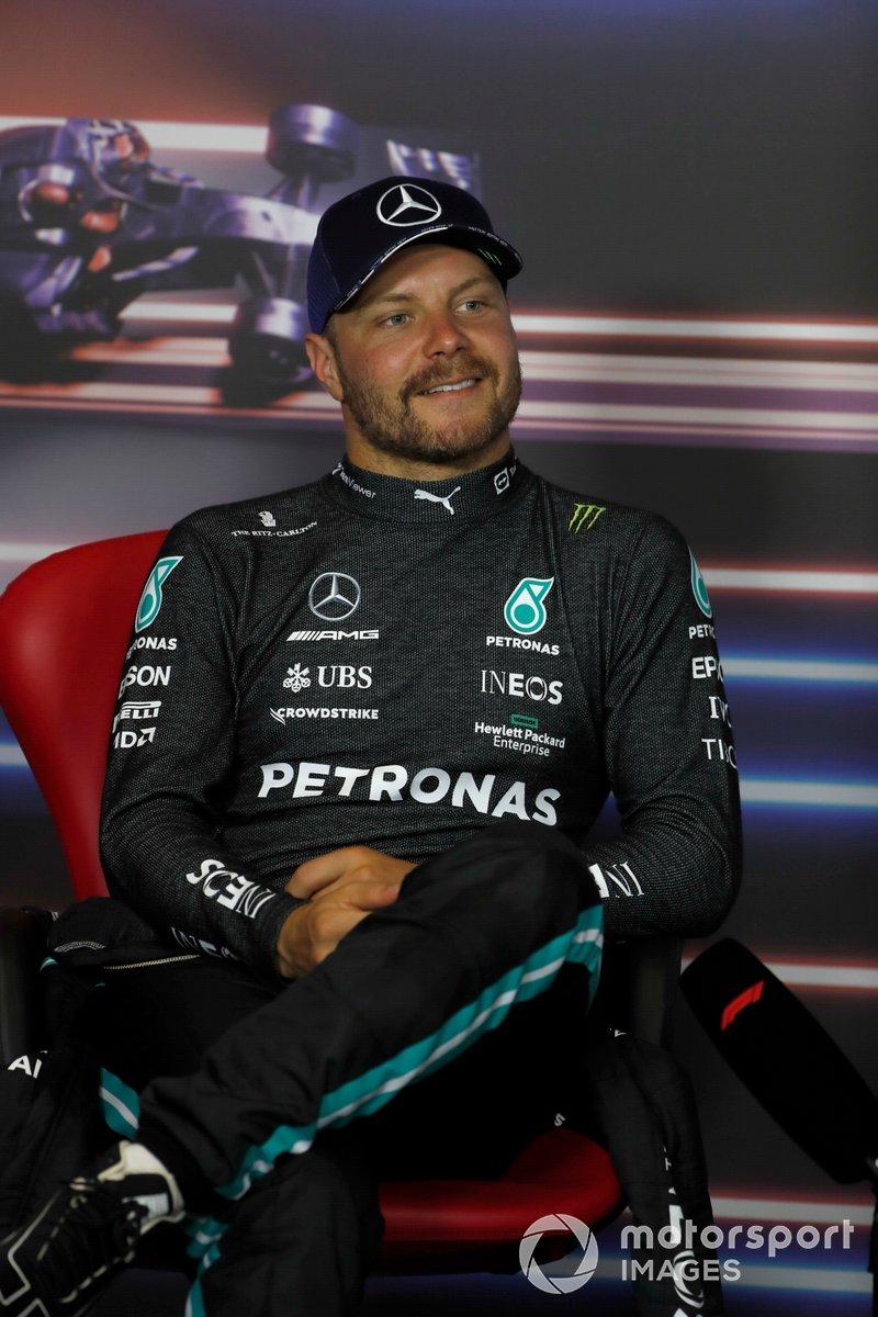 Valtteri Bottas, Mercedes, en la conferencia de prensa