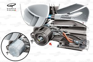 Mercedes W06 rear brake drum heaters