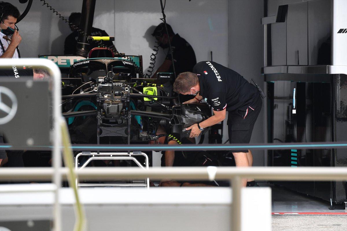 Detalle del frontal del Mercedes W12