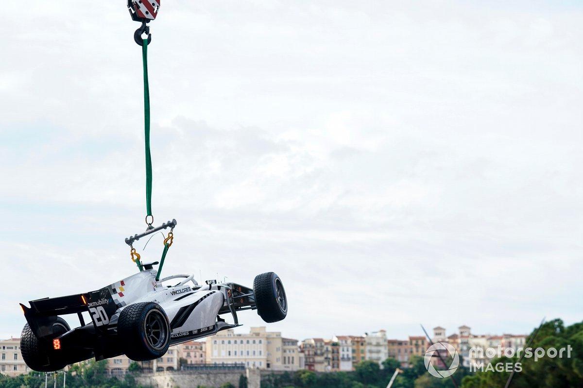 El coche accidentado de Gianluca Petecof, Campos Racing