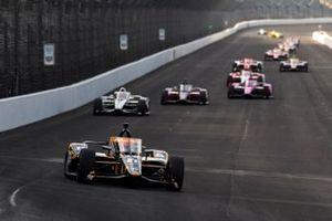 IndyCar-Action auf dem Indianapolis Motor Speedway