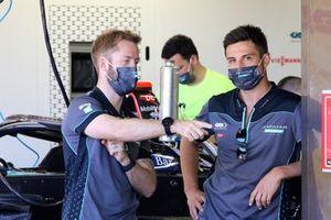 Sam Bird, Jaguar Racing and Mitch Evans, Jaguar Racing