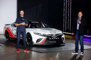 Nascar driver Denny Hamlin and David Wilson, President, Toyota Racing Development USA, General Manager