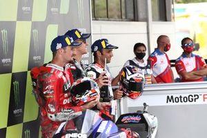 Polesitter Fabio Quartararo, Yamaha Factory Racing, second place Jack Miller, Ducati Team, third place Johann Zarco, Pramac Racing