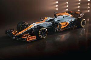 McLaren MCL35M con nueva decoración Gulf