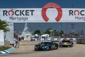 #23 Heart of Racing Team Aston Martin Vantage GT3, GTD: Ross Gunn, Roman De Angelis, #4 Corvette Racing Corvette C8.R, GTLM: Tommy Milner, Nick Tandy