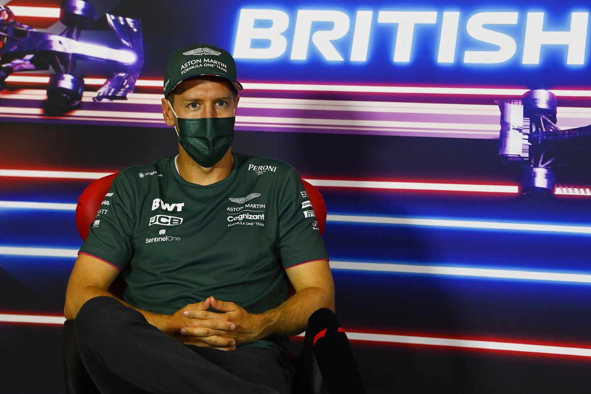 Sebastian Vettel, Aston Martin, in the press conference