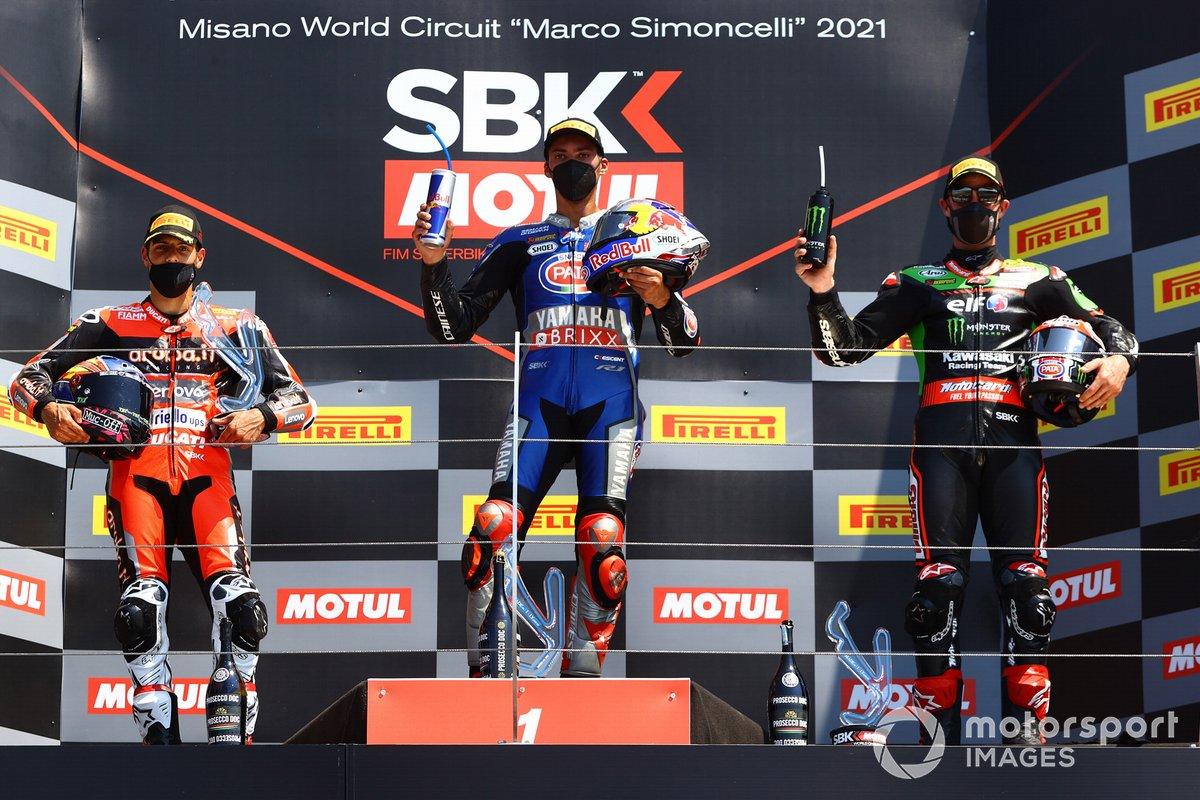 Michael Ruben Rinaldi, Aruba.It Racing - Ducati, Toprak Razgatlioglu, PATA Yamaha WorldSBK Team, Jonathan Rea, Kawasaki Racing Team WorldSBK