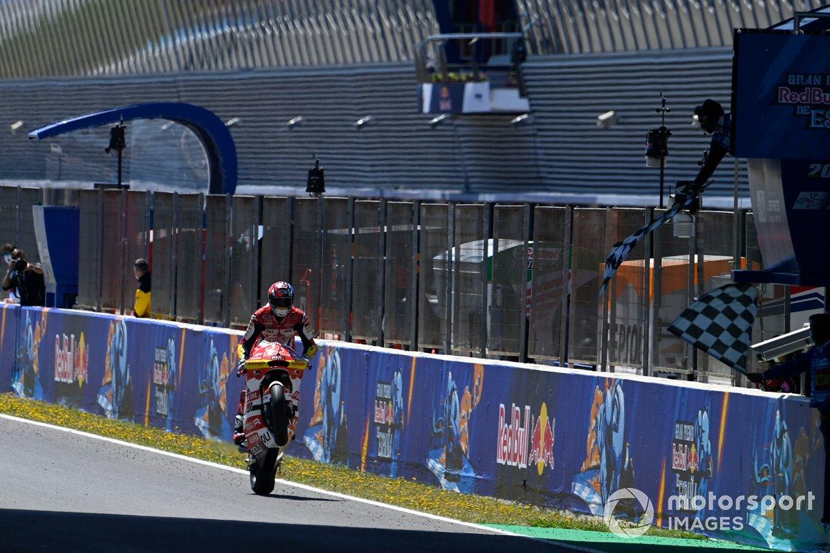 Ganador de la carrera, Fabio di Giannantonio, Federal Oil Gresini Moto2