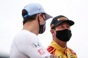 Graham Rahal, Rahal Letterman Lanigan Racing Honda, Ryan Hunter-Reay, Andretti Autosport Honda