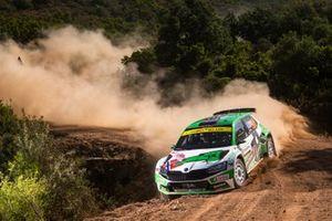 Andreas Mikkelsen, Ola Floene, Skoda Fabia Rally2 evo