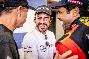 Fernando Alonso, Nasser Al-Attiyah, Toyota Gazoo Racing