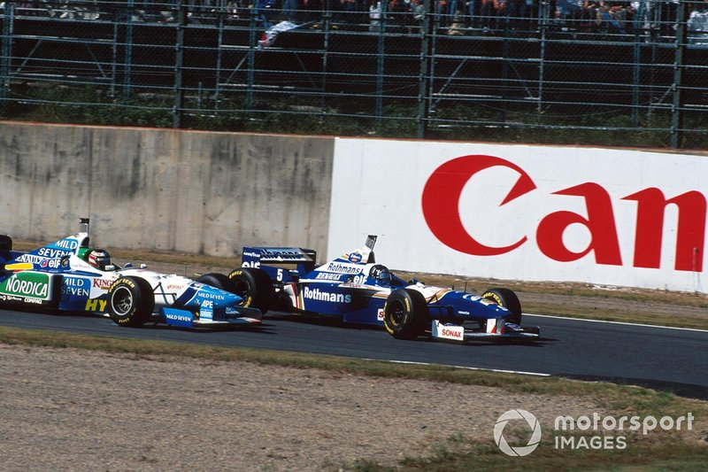 Gerhard Berger, Benetton, Damon Hill, Williams, al GP del Giappone del 1996