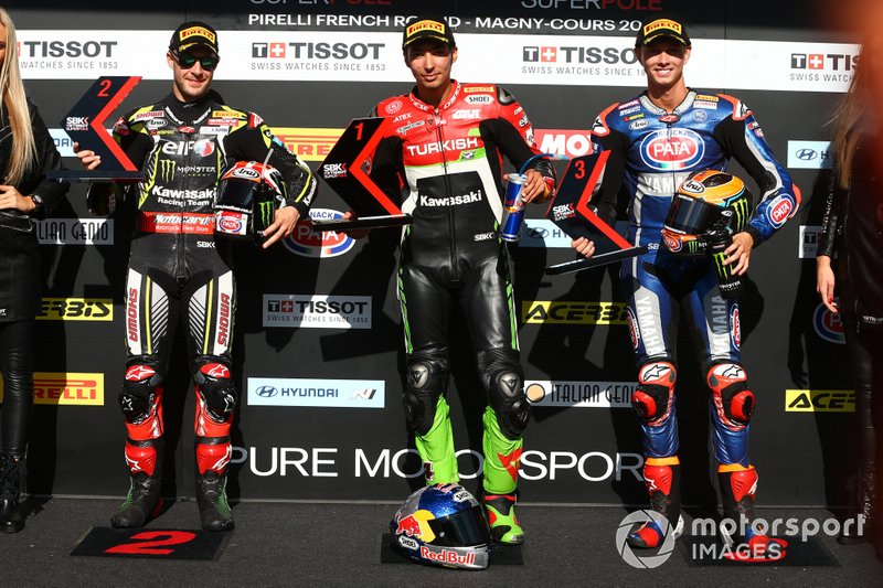 Jonathan Rea, Kawasaki Racing Team, Toprak Razgatlioglu, Turkish Puccetti Racing, Michael van der Mark, Pata Yamaha