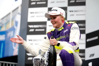 Podium: Race winner Emma Kimilainen