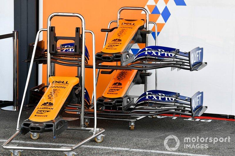 L'aileron avant de la McLaren MCL34