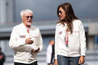 Bernie Ecclestone, Chairman Emiritus of Formula 1, with his wife Fabiana