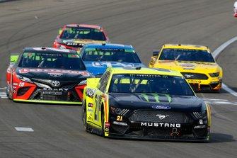 Paul Menard, Wood Brothers Racing, Ford Mustang Menards / Monster and Erik Jones, Joe Gibbs Racing, Toyota Camry CRAFTSMAN Gas Monkey